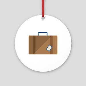 Suitcase Ornament (Round)