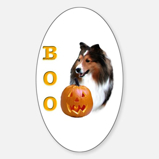 Sheltie(sbl) Boo Oval Decal