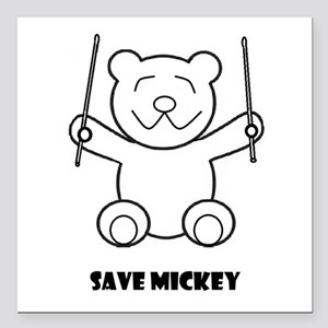 """Save Mickey Square Car Magnet 3"""" X 3"""""""