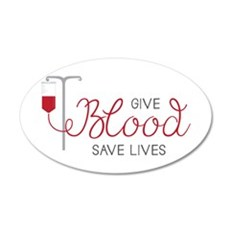 Give Blood Wall Decal