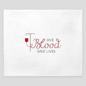 Give Blood King Duvet
