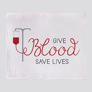 Give Blood Throw Blanket