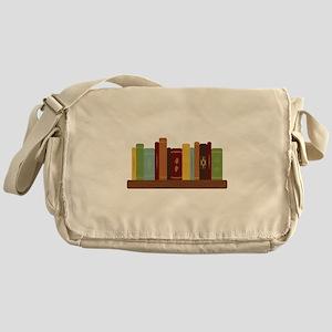 Books On Shelf Messenger Bag