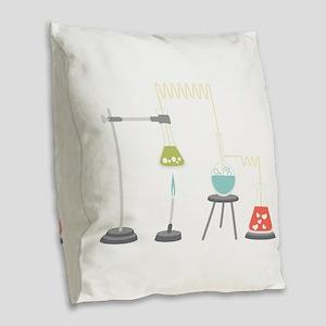 Chemistry Experiment Burlap Throw Pillow