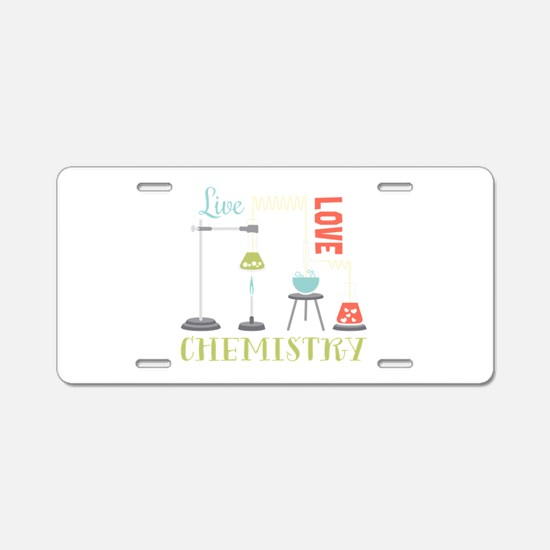 Love Chemistry Aluminum License Plate