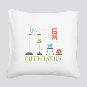 Love Chemistry Square Canvas Pillow