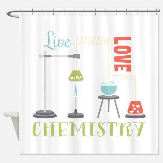 Love Chemistry Shower Curtain