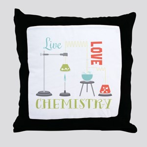 Love Chemistry Throw Pillow