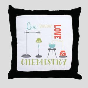 Love Chemistry Throw Pillow