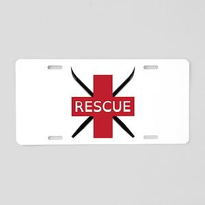 Ski Rescue Aluminum License Plate