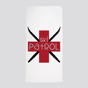 Ski Patrol Beach Towel