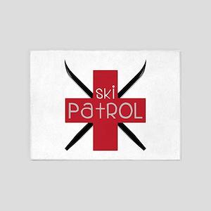 Ski Patrol 5'x7'Area Rug