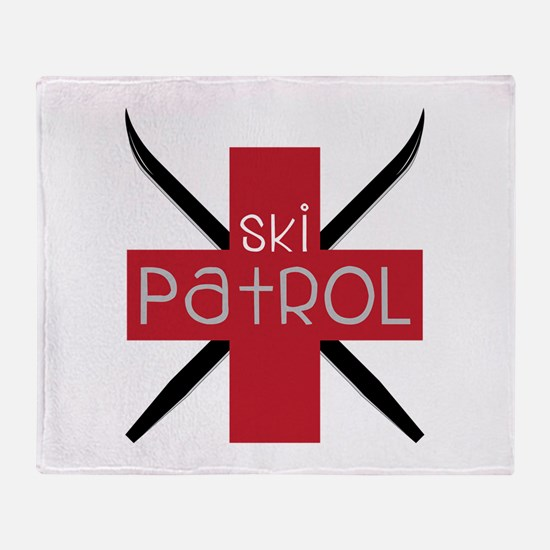 Ski Patrol Throw Blanket