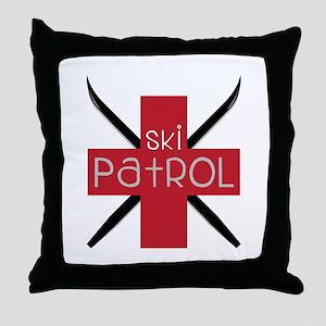 Ski Patrol Throw Pillow