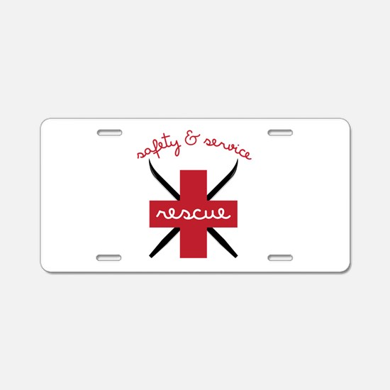 Safety & Service Aluminum License Plate