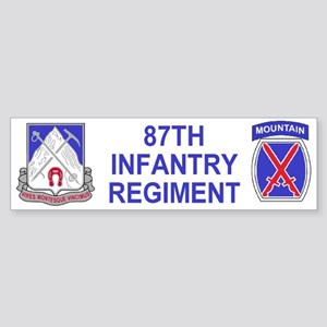 87th Infantry Regiment <BR>Bumper Sticker 1