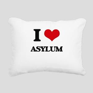 I Love Asylum Rectangular Canvas Pillow