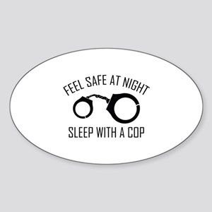 Feel Safe At Night Sticker (Oval)