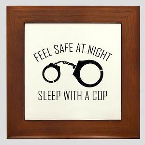 Feel Safe At Night Framed Tile