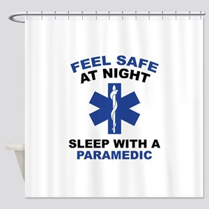 Feel Safe At Night Shower Curtain