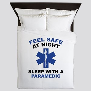 Feel Safe At Night Queen Duvet