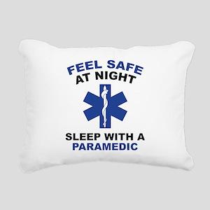 Feel Safe At Night Rectangular Canvas Pillow