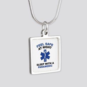 Feel Safe At Night Silver Square Necklace