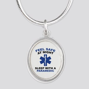 Feel Safe At Night Silver Oval Necklace