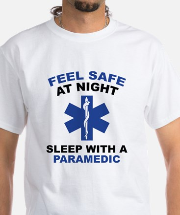 Feel Safe At Night White T-Shirt