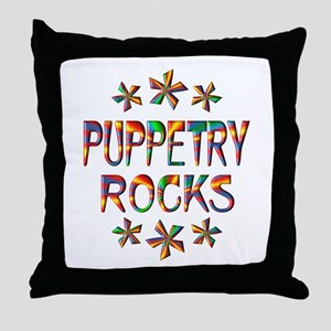 Puppetry Rocks Throw Pillow