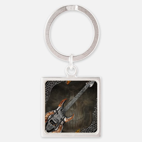 Celtic Warrior Guitar by Bluesax Square Keychain