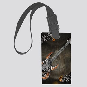 Celtic Warrior Guitar by Bluesax Large Luggage Tag