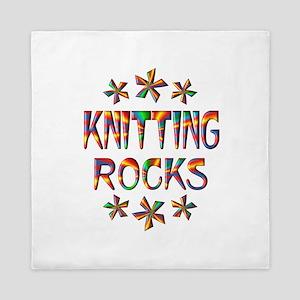 Knitting Rocks Queen Duvet