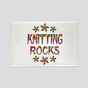 Knitting Rocks Rectangle Magnet