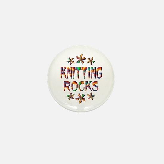 Knitting Rocks Mini Button