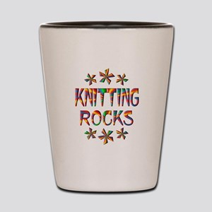 Knitting Rocks Shot Glass