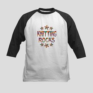 Knitting Rocks Kids Baseball Jersey