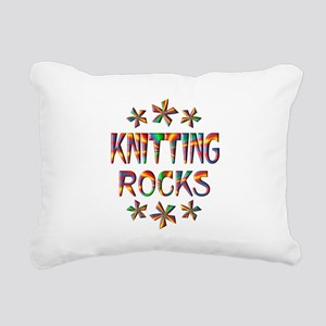 Knitting Rocks Rectangular Canvas Pillow