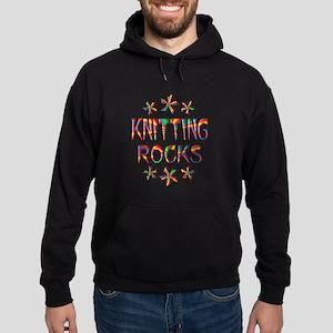 Knitting Rocks Hoodie (dark)