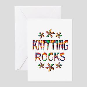 Knitting Rocks Greeting Card