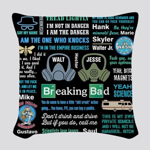 Breaking Bad Quotes Woven Throw Pillow