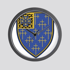34th Infantry Regiment Military Patch.p Wall Clock
