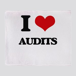 I Love Audits Throw Blanket