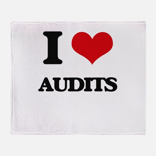 I Love Audits Throw Blanket