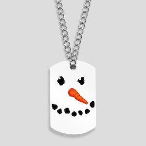 Cute Snowman Dog Tags