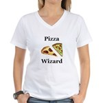 Pizza Wizard Women's V-Neck T-Shirt