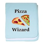Pizza Wizard baby blanket