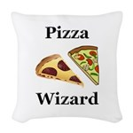 Pizza Wizard Woven Throw Pillow