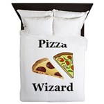 Pizza Wizard Queen Duvet