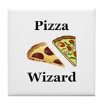 Pizza Wizard Tile Coaster